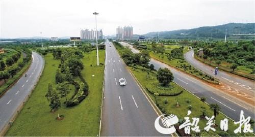 道路带状绿地手绘图